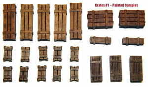 1-35-Scale-resin-kit-Wooden-Crates-Set-1