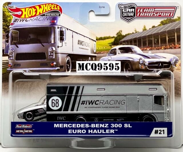HOT WHEELS 2020 CAR CULTURE TEAM TRANSPORT MERCEDES-BENZ 300 SL / EURO HAULER