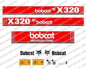 Bobcat-X320-Mini-Excavadora-Set-de-Adhesivos