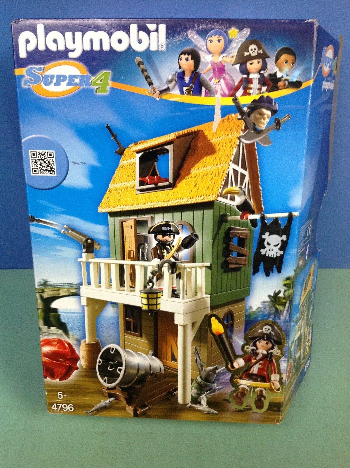 (O4796) playmobil Maison des pirates Super 4 ref 4796 6697 6688