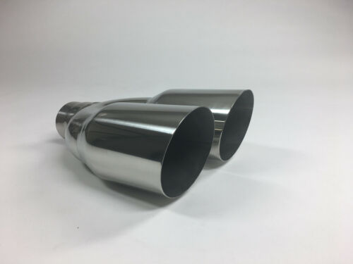 """3.5/"""" Outlet 10/"""" long Stainless Steel Exhaust Tip 2.25/"""" Inlet"""