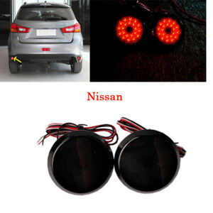 LED-Rear-Bumper-Reflectors-Round-Red-Tail-Brake-Light-For-QASHQAI-NISSAN