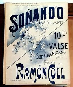 SPARTITO Autografato SONANDO ( RAMON COLL ) a  Franco Ulivi  Valse Sud Americano
