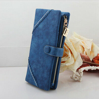 Latest Fashion Leather Wallet Women Button Clutch Purse Lady Long Handbag Bag