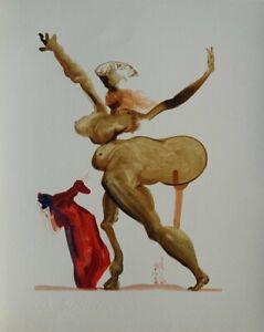 Dali Salvador: Hölle 33 - Holz Graviert Original, Die Göttliche Komödie, 1960