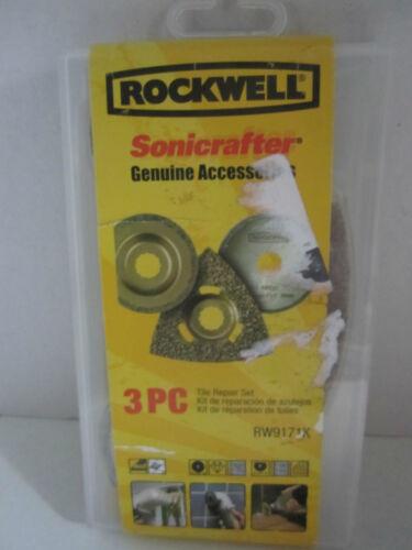 Rockwell 3 pc Tile Repair Kit RW9171K Sonicrafter RW116 RW9124 RW9127 New