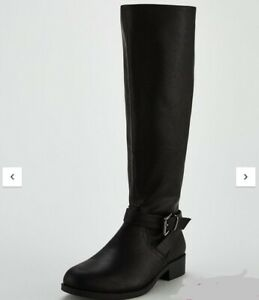 NEW-V-by-Very-Iona-Knee-Riding-Boot-BLACK-SIZE-5-RRP-46
