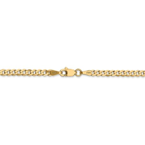 Details about  /Real 14kt Yellow Gold 2.9mm Beveled Curb Chain; 8 inch