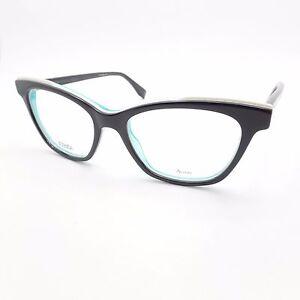 34f14affef Fendi 0256 807 50mm Black White Blue New Rx Frames Authentic