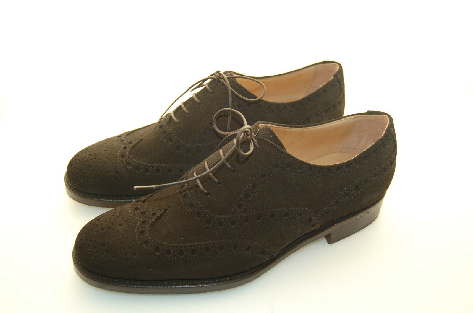 Woman-Woman-Oxford Wingtip W. Perfs & Med-Suede Dark marrón-LTH Sun + 1 2 rubber