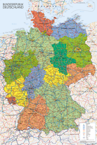Germany-Map-Maxi-Poster