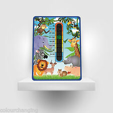 JUNGLE - Wipe clean surface -Baby Safety Temperature -  Nursery Room Thermometer