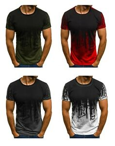MENS-PRINTED-NOVELTY-DESIGN-T-SHIRT-TEE-TOP-OUTDOOR-CASUAL-GYM-SPORTS-RUNNING