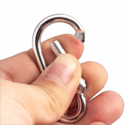 Aluminum Spring Carabiner Snap Hook Hanger Keychain Hiking Pcak 5//30 pcs Silver~