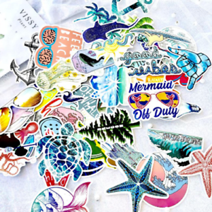 50-viaje-playa-mar-sticker-StickerBomb-retrostickern-pegatinas-Mix-Decals-VBR