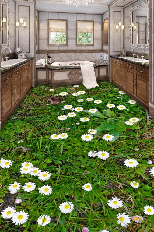 3D Fleurs en 621 Fond d'écran étage Peint en Fleurs Autocollant Murale Plafond Chambre Art 44b43f