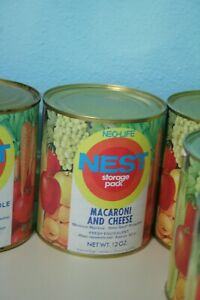 Vintage-1970s-Neo-Life-NEST-Macaroni-and-Cheese-Can-Full-Unopened-Storage-Pack