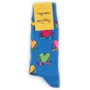 Happy Socks KEITH HARING RUNNING HEART - Calcetines - blue fC3J7NeO
