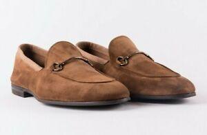 grande vendita a7796 98afc Details about Henderson Baracco mocassino loafers uomo pelle camoscio beige  marrone handmade