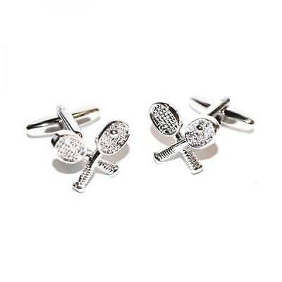 Crossed Tennis Racket CUFFLINKS Player Winner Wimbledon Birthday Present