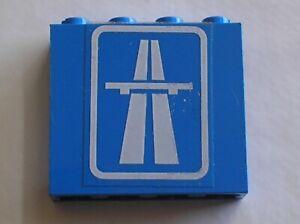 LEGO-Blue-panel-4215a-Stickers-autoroute-highway-4215pb027-Set-6653