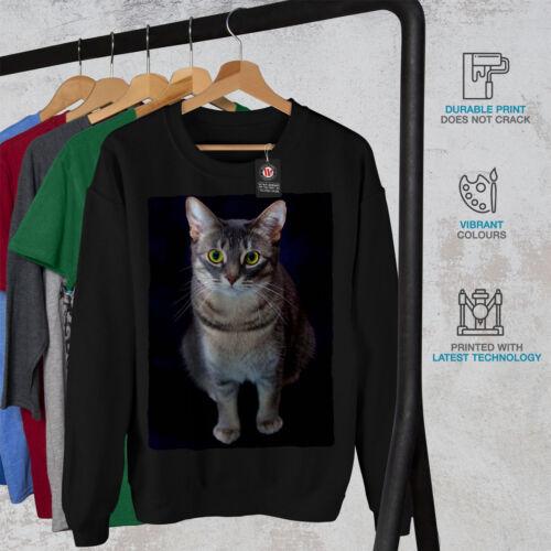 Wellcoda Cat Photo Cute Animal Mens Sweatshirt Food Casual Pullover Jumper