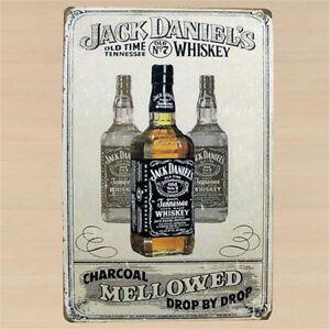 Jack Daniels Metal Vintage Tin Sign Plaque Pub Decor Bar