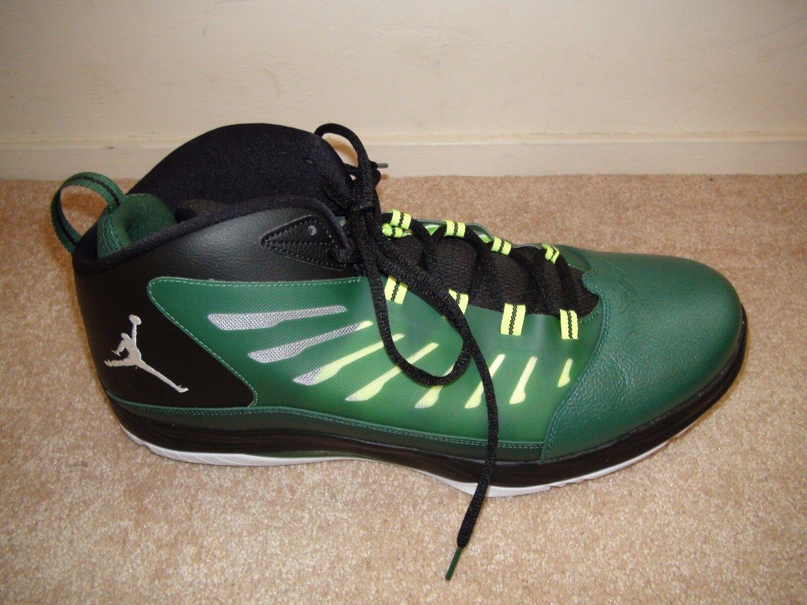 Nike 654287 301 michael jordan il primo volo tech uomini scarpe da basket verde sz 18