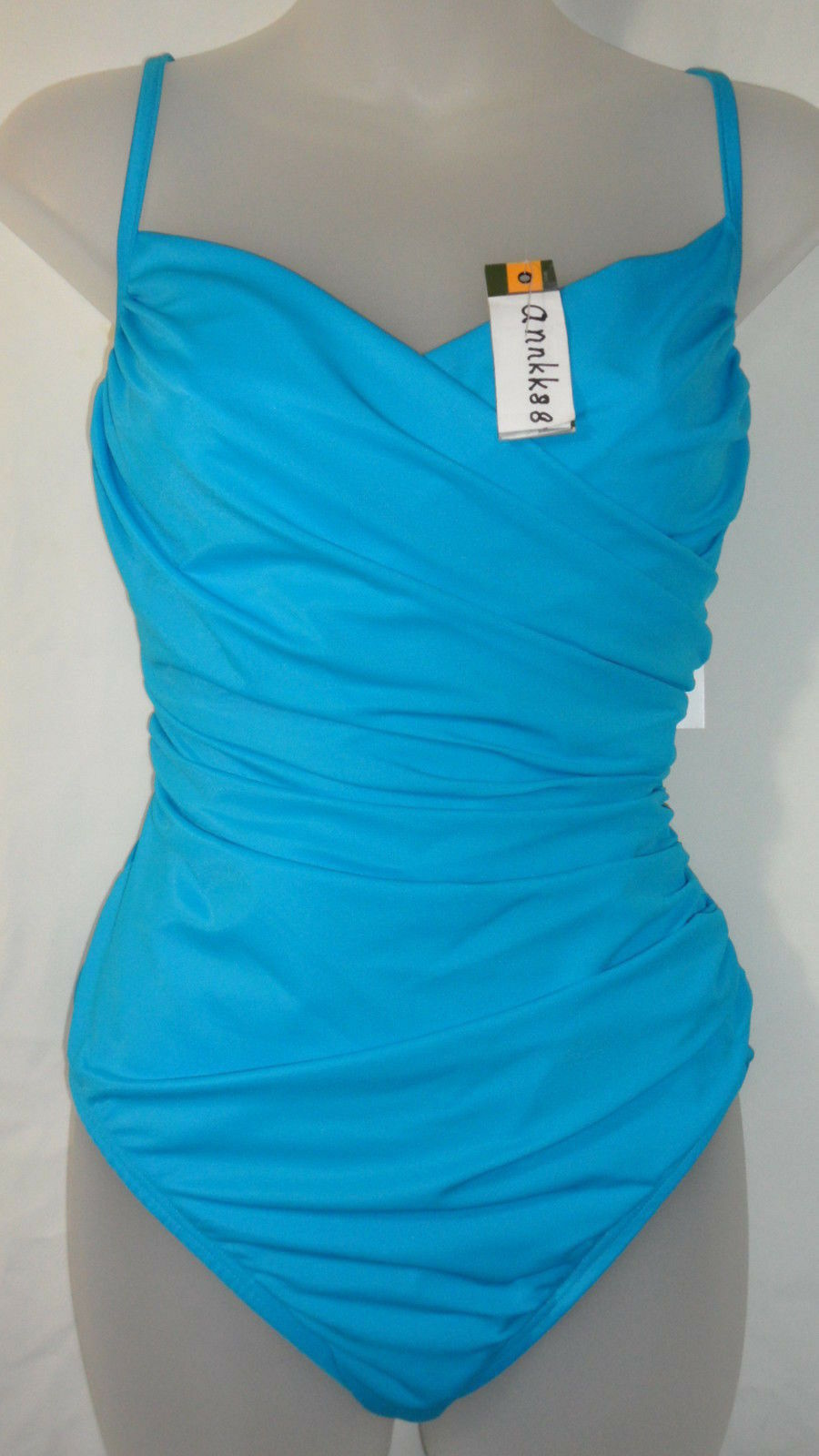NWT Miraclesuit Womens Captiva 1-PC One Piece Swimsuit bluee 16 Retail  134