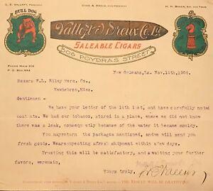 Rare-Tobacco-Bill-Head-1906-Valloft-amp-Dreux-Cigars-New-Hebron-Mississippi
