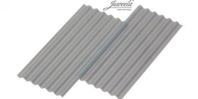 """Juweela 23246 Wellplatte """"fibra Cemento"""" Grigio 15 Pz.-mostra Il Titolo Originale"""