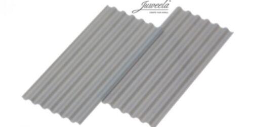 """Juweela 23246 Wellplatte /""""Faserzement/"""" grau  15 Stk."""