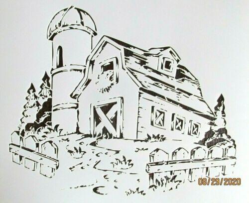 Country Barn Old Time Farm Barn Stencil//Template Reusable 10 mil Mylar