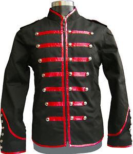 e1148ed5b4 Men s Handmade Black Parade Military Marching Band Drummer Jacket ...