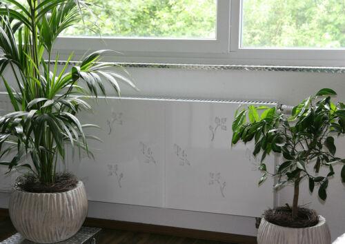 Set= 2 Stück weiß Heizkörper-Verkleidung 62 x 60 cm Design: Leaves