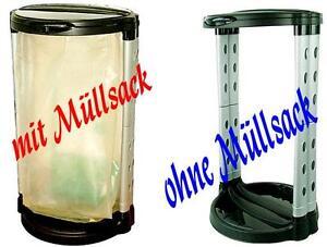 MULLSACKSTANDER-120-Liter-MIT-DECKEL-MULLBEUTELSTANDER-GELBER-SACK