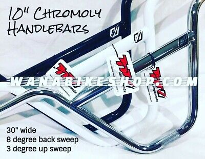 "TNT BMX CHROMOLY 10/"" HANDLEBAR CHROME"