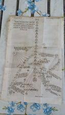 STAMPA INCISIONE 1735 D EPOCA TAVOLA GENEALOGICA TRIBU ARABE DI ISMAELLO ABRAMO