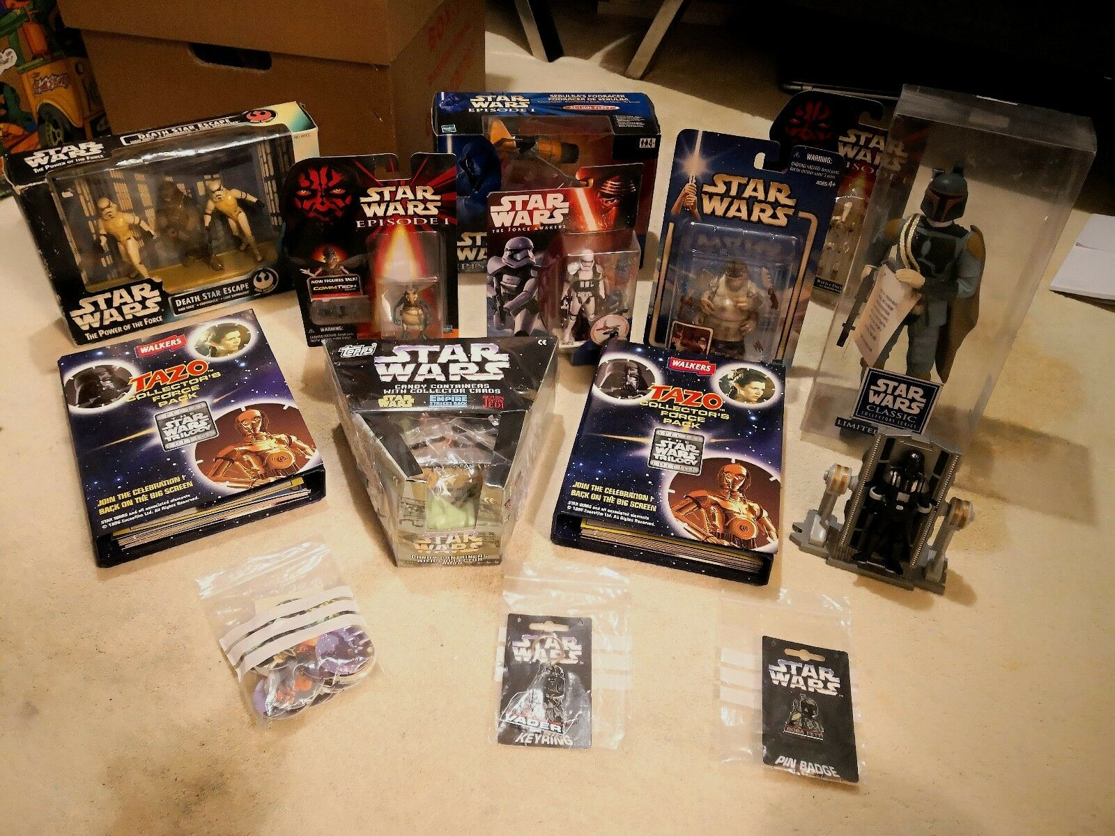 Huge 90s Star Wars lot - MOC Sealed Boxed - Boba Fett + Darth Vader - Hasbro