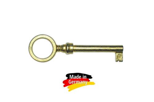 015  #5 Nr Möbelschlüssel  vermessingt matt  75 mm 5 Stk