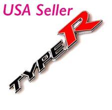 3D Emblem Badge Sticker Decal Metal TYPE-R TYPER Black For Honda Acura AS
