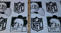 Disney Nfl Mickey Mouse Football Logo Licensed 18 X 60 Polyester Fabric Bthy