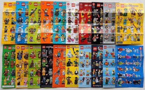 4 Sonderserie = 20 Beipackzettel LEGO® Minifigur Serie 1-16 Figurenposter A