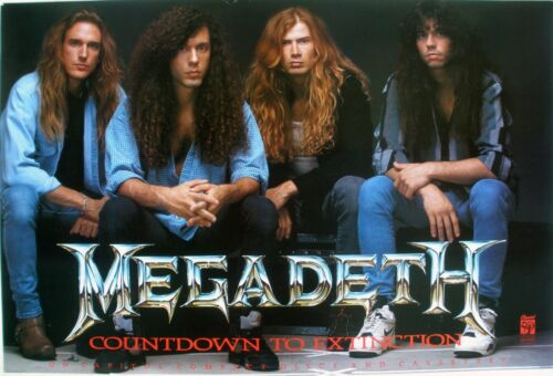 MEGADETH COUNTDOWN TO EXTINCTION 1992 VINTAGE MUSIC RECORD STORE PROMO POSTER
