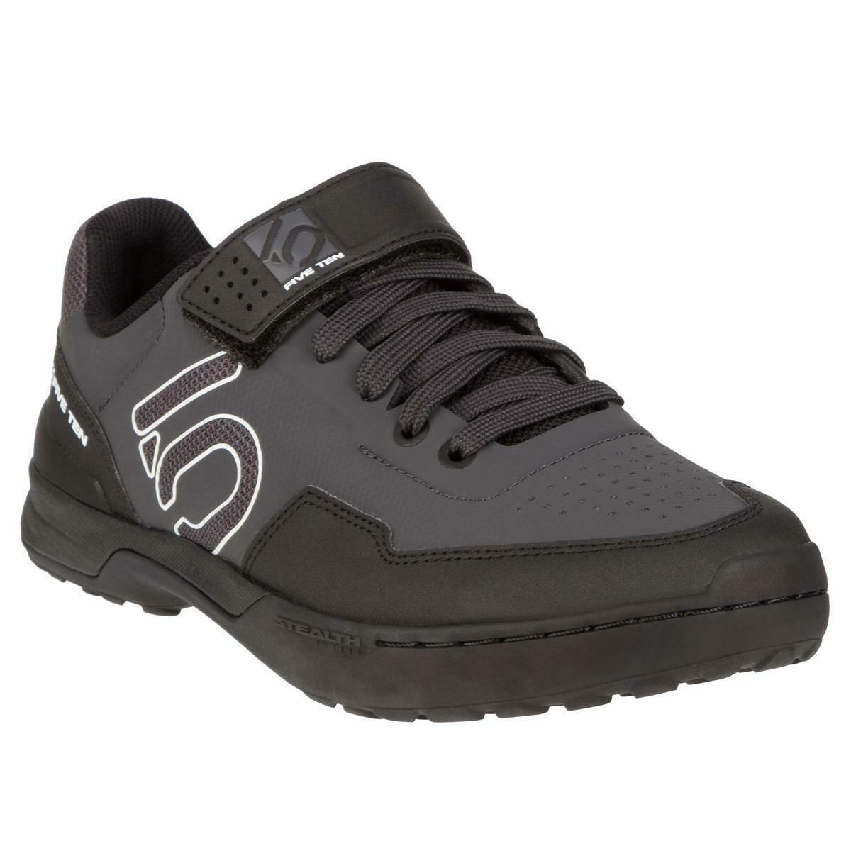 Five Ten MTB-zapatos Kestrel Lace Clipless Cochebono Core negro clear gris