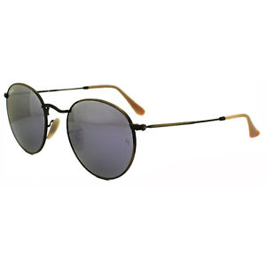 b93cf8491d79 Ray-Ban Sunglasses Round Metal 3447 167 4K Bronze Copper Lilac ...