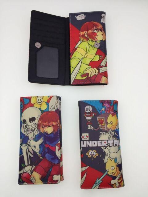 Undertale Sans Leather pu Wallet Unisex fashion ID Card Holder Short Purse Gift