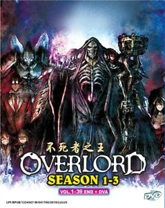 Details about DVD Anime OVERLORD Season 1+2+3 Complete Series (1-39 + OVA)  English Audio Dub