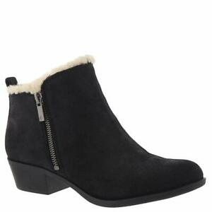 Lucky-Brand-Womens-Basel-Sher-Leather-Almond-Toe-Ankle-Fashion-Black-Size-5-5