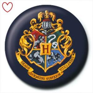 Official Harry Potter Badge Hogwarts Crest Button Pin